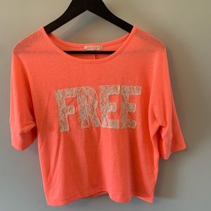 FREE ADD ON / Coral / Cropped / Free / Tee